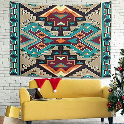 NeiBangM Bunter Mandala Wall Hanging Intricate Sofa Decke Tabelle Heimdekoration White 200x150cm