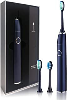 Electric toothbrush USB rechargeable adult sonic electric toothbrush with 25 modes adjustable(5 kinds of intelligent cleaning mode + 5 speed control),IPX8 waterproof grade