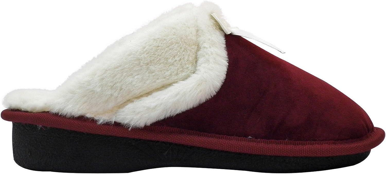 Aski Aski Aski Slippers - Bow Cozy, Super Comfy Slippers for kvinnor - Faux Fur with Memory Skum Cushioneing Footwear, Mahogany Storlek 6 -6.5  vi tar kunder som vår gud