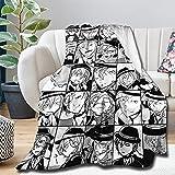Bungo Stray Dogs Collage Comics Anime Manga BSD Chuuya Sofaüberwurf große Decke Flanell Super Soft Fleece Tagesdecke Home Decor All Season für Bett Couch Zimmer 203,2 x 152,4 cm
