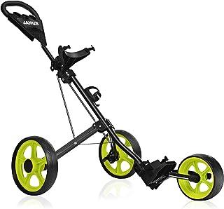 JANUS Golf Push Cart, golf cart for golf bag, golf pull cart for golf clubs, golf push carts 3 wheel folding, golf accessories for men women/ kids golf clubs golf cart accessories and necessitie