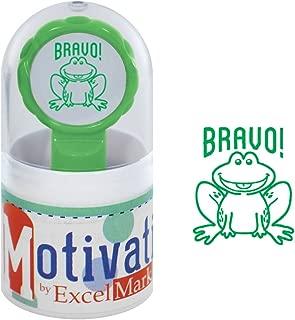 Motivations Pre-Inked Teacher Stamp - Bravo! (Frog) - Green Ink