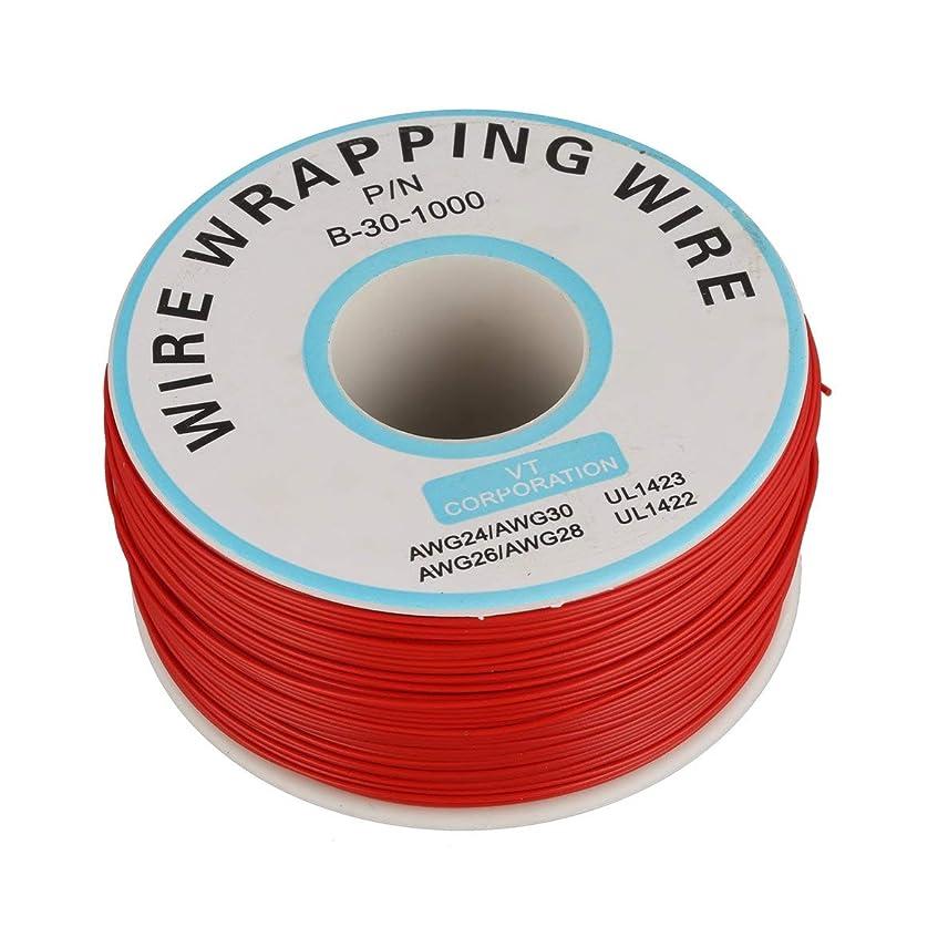 博物館かなりの気がついて250m 30awgシングルコア銅線Okライン回路フライトラインPcbジャンパー線電子溶接ケーブル - 赤