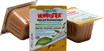 Peanut Free Tree Nut Free Creamy Natural No Stir Spread – WOWBUTTER – Award Winning Vegan Plant Protein Food made with Non-GMO Verified Whole Soy – 100 / 1.12 oz. Portion Cups
