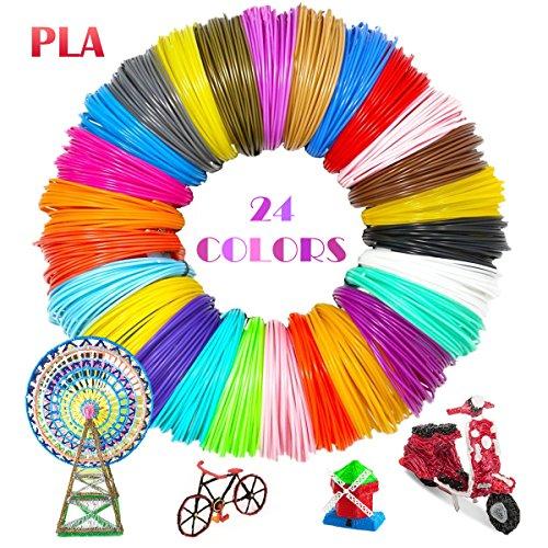 PLA Filament 24 Colours 5m/Colour TICOSH 3D Pen Printer PLA Printing Material Refills 1.75mm Multicolour for 20 Different Colours 16 Feet Each Prefect DIY for Kids and Adults Fit for Polaroid Aerb NEXGADGET Tecboss Amzdeal SOYAN Intelligent 3D Pen