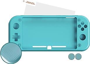 Android - Nuwa Silicona Antideslizante Azul + 2 Grips + Film Protector Para Nintendo Switch Lite