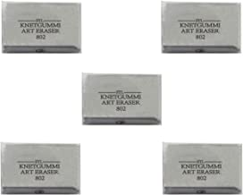 Partstock 5pcs Gray Art Kneaded Eraser School Stationery Office Supplies Drawing Accessories Special Eraser for Art Sketch Pencil Pastel Painting