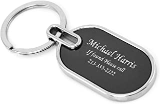 Gifts Infinity Personalized Car Or House Keychain - Free Laser Engraving (Glass, P Oval)