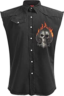 Spiral Mens - Ace Reaper - Sleeveless Stone Washed Worker Black