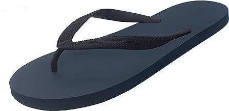 Feisco Men Rubber Flip Flops Thong Sandal Beach Slipper