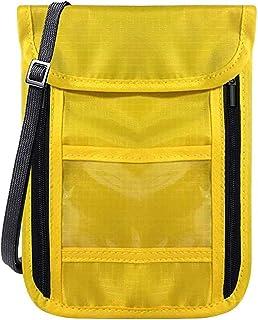 WISTOMJP 1個入パスポートケース スキミング防止 首下げ 首掛け 調節可能 防水 軽量 航空券対応 スマホ収納可 6つポケット 旅行 配達3〜5労働日まで