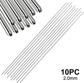 Aluminum Welding Rods, Universal Low Temperature Aluminum Welding Cored Wire for Electric Power, Chemistry, Food, Silver 33cm1.6mm/2.0mm