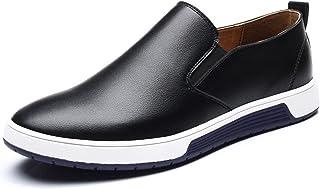 [フォクスセンス] 革靴 ビジネスシューズ 紳士靴 スリッポン ラウンドトゥ カジュアル メンズ 通気性抜群 軽量 滑り止め 柔らかい