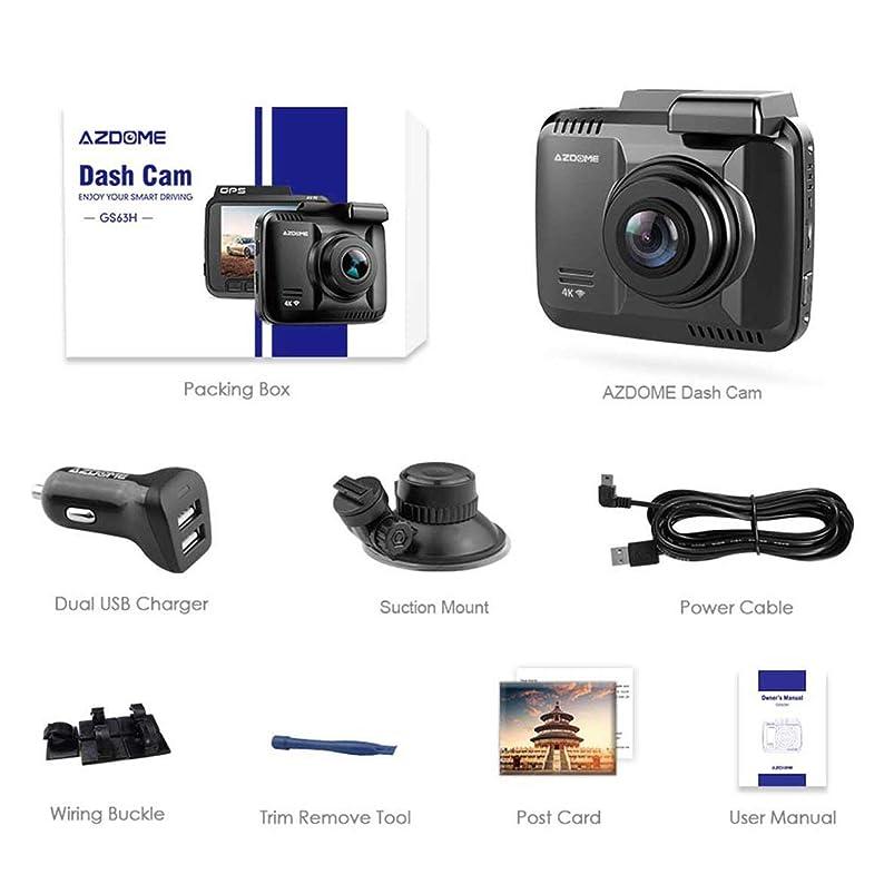 オッズアーカイブ理論的DyStyle Gs63H 4K内蔵Gps Wifi車DVRレコーダーダッシュカムデュアルレンズ車両リアビューカメラビデオカメラナイトビジョンダッシュカメラ
