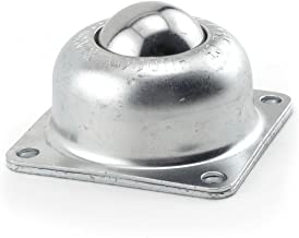 Hudson Bearings BT-1-1/2 Four-Hole Flange Mounted Ball Transfer, Carbon Steel, 1-1/2