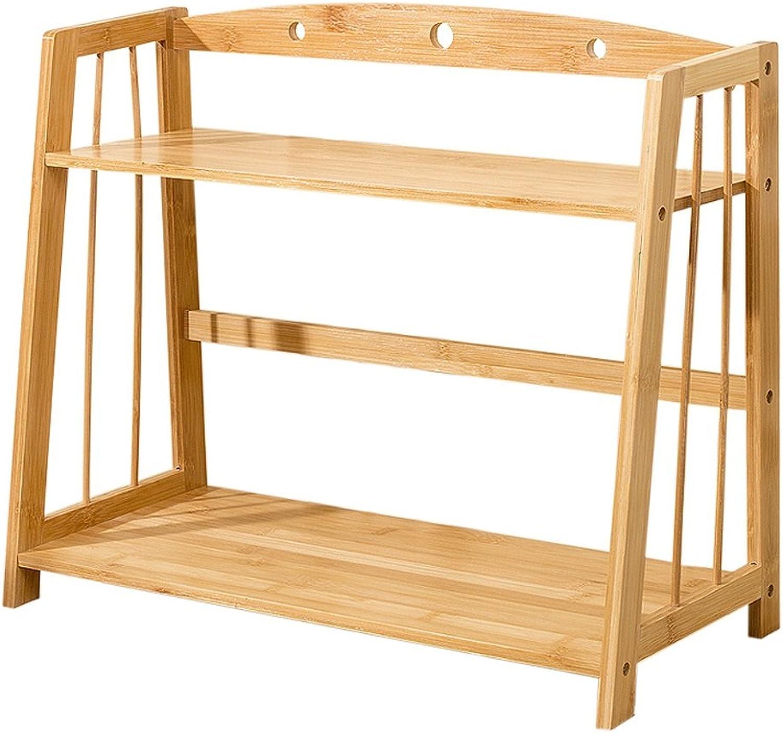 Creative 2 Tiers Bamboo Desktop greenical Bookshelf Small Office File Rack Large Capacity Storage Rack (Size   42cm)