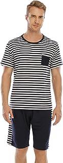 YAOMEI Mens Pyjamas Set Short Modal Cotton, 2020 New Mens Short Sleeves Nighties PJ Set Sleepwear Nightwear, Summer Linger...