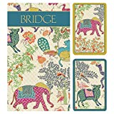 Caspari Le Jardin De Mysore Bridge Gift Set - 2 Playing Card Decks & 2 Score Pads