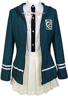 Ya-cos Cosplay Female High School Chiaki Nanami Cosplay Outfit Uniform Dress Green