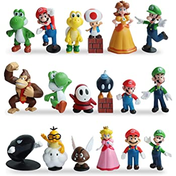 SUPER MARIO AND CHARACTERS CAKE TOPPERS 5 FIGURES BN FREE P+P
