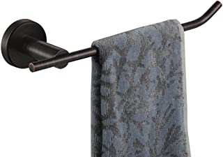 JQK Hand Towel Bar Oil Rubbed Bronze, Stainless Steel Towel Ring for Bathroom, 9 Inch Necklace Holder Wall Mount Right Han...