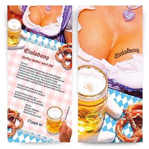 Einladungen (30 Stück) Oktoberfest Frühschoppen Hüttengaudi Geburtstag Einladungskarten