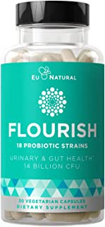 Flourish Probiotics + Prebiotics for Women – Gut & Digestion, Urinary Tract, Reduce Bloating, Vaginal Healt...