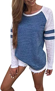 19462570efc Gillberry Women Ladies Short Sleeve Splice Blouse Tops Clothes T Shirt for  Women