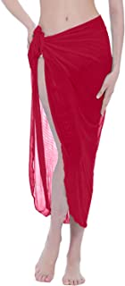 ChinFun Women's Mesh Beach Sarong Waist Wrap Bikini Sheer Cover up Pareo Canga Swimsuit Mini/Short/Long Skirts