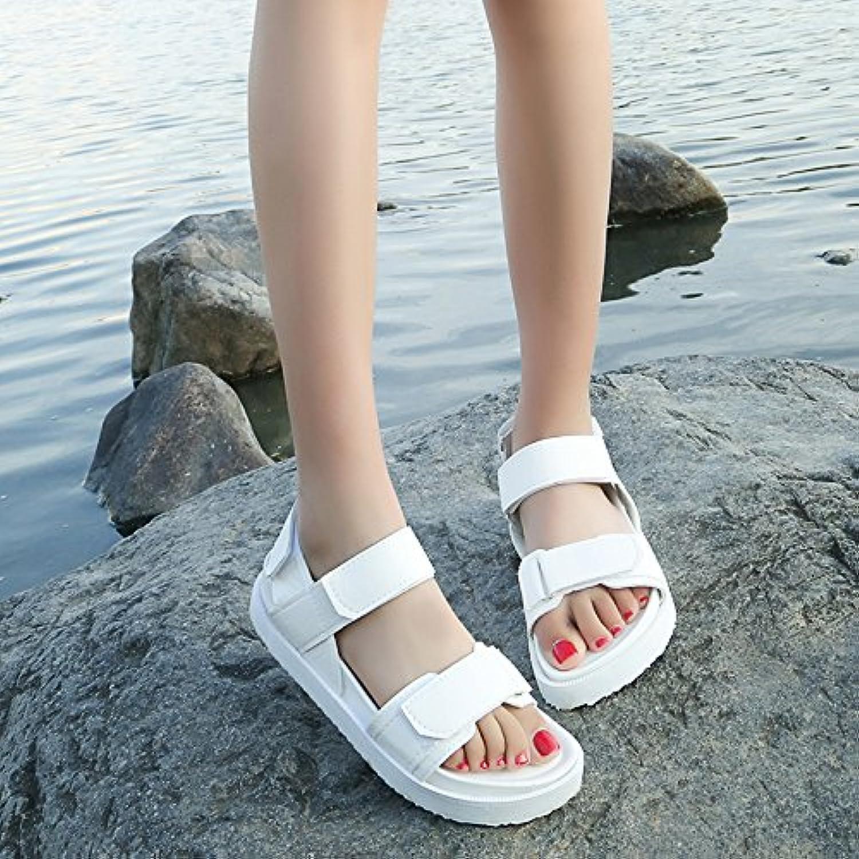 GAOLIM Summer Women shoes Sponge Cake Thick Velcro Minimalist And Versatile Sandals Women Flat shoes