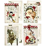 20 cartoline di Natale nostalgia pura vintage, 10,5 x 14,8 cm