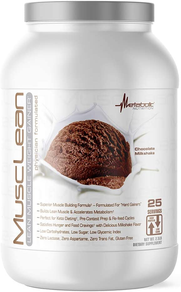 Mail order Metabolic Nutrition - Musclean Milkshake H Gainer Whey Weight Deluxe