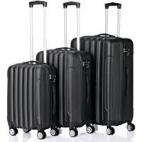 onEveryBaby Hard Side Traveling Luggage Set of 3-Pcs. (Black)