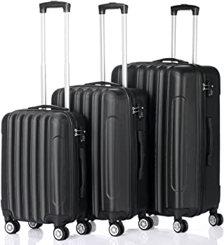 3-Pieces Teeker ABS Hard side Spinner Luggage Sets