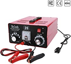 Beleeb Battery Charger Automotive Current Floating 12V/24V/36V/48V/60V/72V Trickle Desulfator for Golf Cart Motorcycles Car Truck Lawn Mower SUV RV ATV(40-150Ah)- Voltage Adjustable (20A Rated)