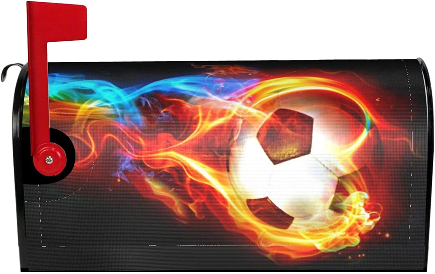 Limited time cheap sale ~ Soccer Large Mailbox Cover Magnetic Decor Waterproof Free Shipping New W