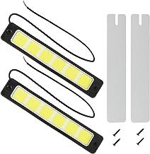 Safego 2Pcs/Set DRL COB LED 60Chips Impermeable Conducción Luces Diurna Faros Luz de Niebla para Coche/SUV/ATV 8W 300LM 6000K Xenon Blanco