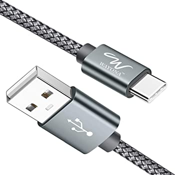 Wayona USB Type C Charger Cable Fast Charging USB C Cable/Cord for Samsung Galaxy S10e S10 S9 S8 Plus S10+, Note 10 Note 9 Note 8,S20,M31s,M40, Realme X3, LG, Pixel 2 XL (3 FT Pack of 1, Grey)