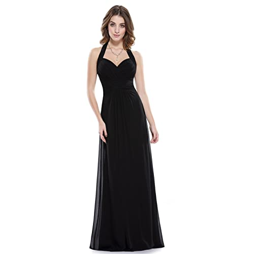 be3be3cd77e Ever Pretty Womens Elegant Ruched Halter Long Evening Gown 08487
