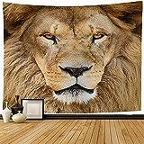 Tapiz Primer Plano Africano Majestuoso Naturaleza León Horizontal Gran Diseño Parque de Criaturas Carnívoro Sur Tapiz de Pared Decoraciones para el Hogar Dormitorio Decoración del Dormitorio , 100x15