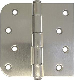 2 Piece Global Door Controls CP4040-7B-2 Square Corner Imperial USA CP Series Full Mortise Residential Door Hinge Set of 2 Ebony Black