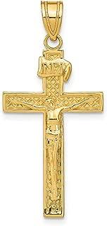 Lex & Lu 14k Yellow Gold INRI Crucifix Pendant