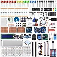 kuman 究極のスターター学習キット Raspberry Pi 4 B 3 B+、はんだ付けI2C LCD 1602、C、Pythonコード用 電子機器とプログラミングを学ぶ K85-US-F
