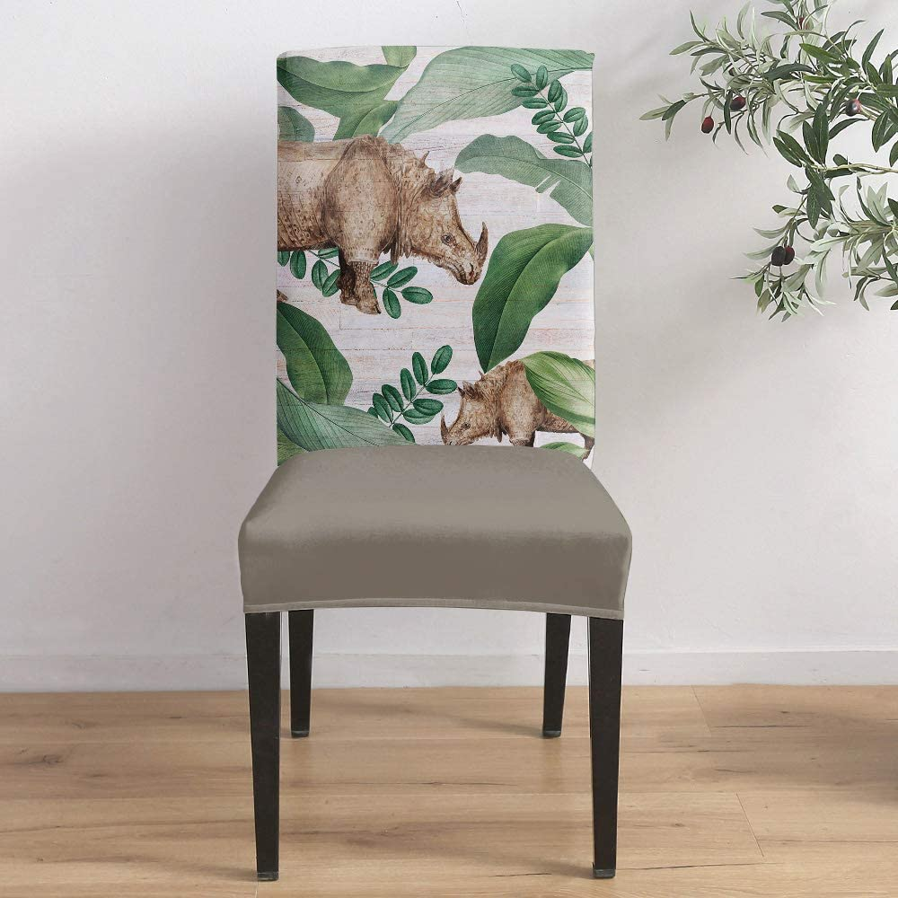 Today's only Dining Room Stretch Chair Cover Tropical Animal Cow Slipcover Sales Pl