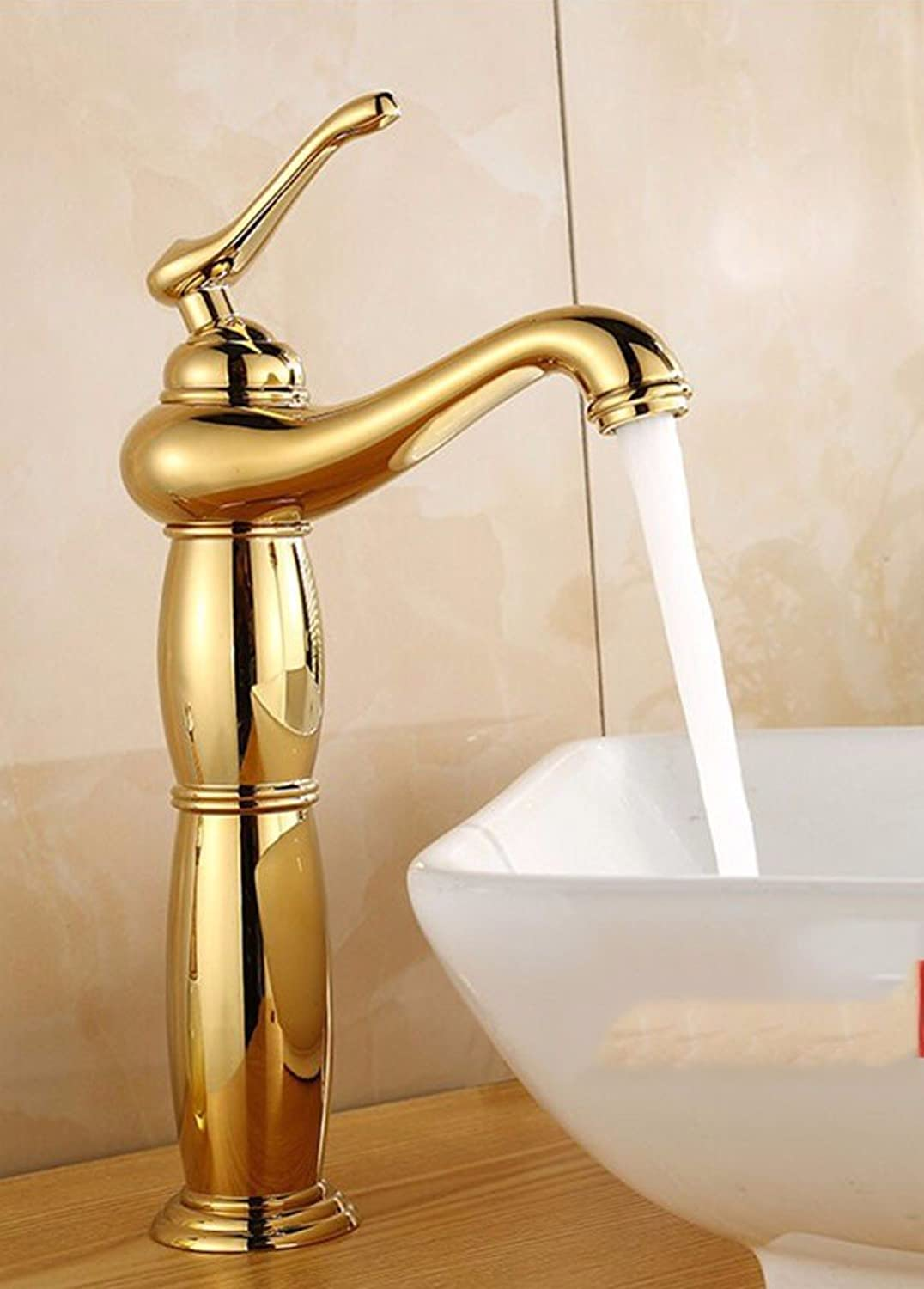 Hlluya Professional Sink Mixer Tap Kitchen Faucet Copper, washing your face, hot and cold, bathroom, Single Hole Sink mixer 8
