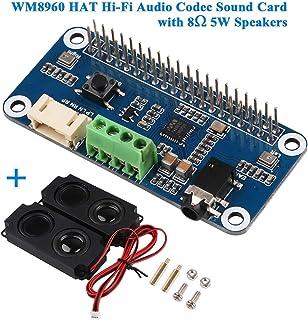 Innovateking EU Hi Fi Soundkarte WM8960 HAT Audio Codec Sound Board Verstärkermodul WM8960 I2S Erweiterungskarte für Himbeer Pi Null/Null mit Null WH / 2B / 3B / 3B + / 4B