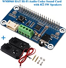 Tarjeta de sonido de alta fidelidad WM8960 Módulo de amplificador de la placa de sonido Codec de audio HAT WM8960 I2S Expansion Board para Raspberry Pi Zero / Zero W / Zero WH / 2B / 3B / 3B +