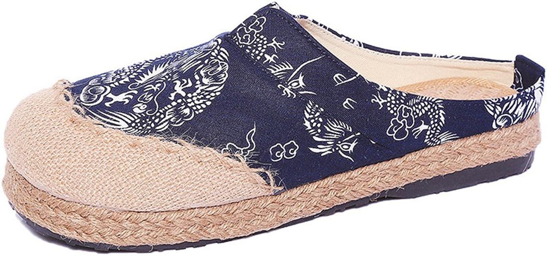 Super frist Women's Espadrille Bohemia Strap Footbed Slide Sandals