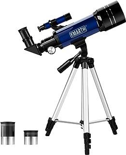 QMU 天体望遠鏡 子供 初学者向け 屈折式 天体観測 バードウォッチング 収納ケース 日本語説明書付き ブルー