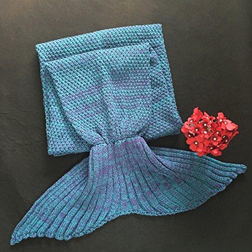 Mermaid Blanket Colour Knitting Sofa Blanket voor vermaak en spelen